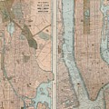 1899 Home Life Map Of New York City  Manhattan And The Bronx  by Paul Fearn