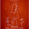 1899 Metronome Patent - Red by Aged Pixel