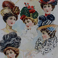 19 Century Ladies Hats The Delineator Early Autumn Hats by R Muirhead Art