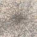 1900 Gall And Inglis' Map Of London And Environs by Paul Fearn