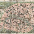 1900 Garnier Pocket Map Or Plan Of Paris France  Eiffel Tower And Other Monuments  by Paul Fearn