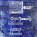 1900 Knife Switch Patent Blue by Jon Neidert
