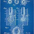 1902 Golf Ball Patent Artwork - Blueprint by Nikki Marie Smith