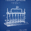 1903 Bottle Filling Machine Patent - Blueprint by Aged Pixel