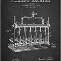 1903 Bottle Filling Machine Patent - Charcoal by Aged Pixel