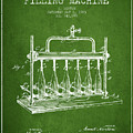 1903 Bottle Filling Machine Patent - Green by Aged Pixel