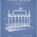 1903 Bottle Filling Machine Patent - Light Blue by Aged Pixel