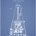 1903 Electric Metronome Patent - Light Blue by Aged Pixel