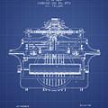 1903 Type Writing Machine Patent - Blueprint by Aged Pixel