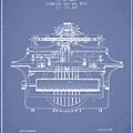1903 Type Writing Machine Patent - Light Blue by Aged Pixel