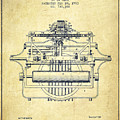1903 Type Writing Machine Patent - Vintage by Aged Pixel