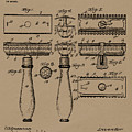 1904 Gillette Razor Patent Drawing by King G Gillette