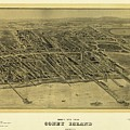 1906 Bird's Eye View Coney Island by Dan Sproul
