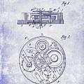 1908 Pocket Watch Patent Blueprint by Jon Neidert