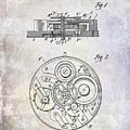 1908 Pocket Watch Patent  by Jon Neidert