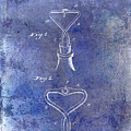1909 Cork Extractor Patent Blue by Jon Neidert