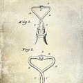 1909 Cork Extractor Patent by Jon Neidert