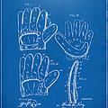 1910 Baseball Glove Patent Artwork Blueprint by Nikki Marie Smith
