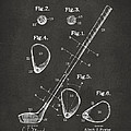 1910 Golf Club Patent Artwork - Gray by Nikki Marie Smith