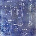 1911 Mechanical Skeleton Patent 1 Blue by Jon Neidert
