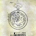 1913 Pocket Watch Patent by Jon Neidert