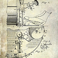 1914 Drum And Cymbal Patent by Jon Neidert