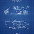 1917 Racing Vehicle Patent - Blueprint by Aged Pixel