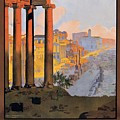 1920 Paris To Rome Train Travel Poster by Retro Graphics