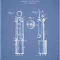 1920 Tuning Fork Patent - Light Blue by Aged Pixel