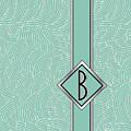1920s Blue Deco Jazz Swing Monogram ...letter B by Cecely Bloom