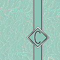1920s Blue Deco Jazz Swing Monogram ...letter C by Cecely Bloom