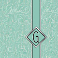 1920s Blue Deco Jazz Swing Monogram ...letter G by Cecely Bloom