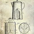 1921 Coffee Pot Patent by Jon Neidert