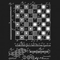 1923 Checkers And Chess Board by Dan Sproul