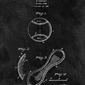 1924 Baseball Patent Illustration by Dan Sproul