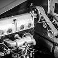 1925 Bugatti Brescia Type 23 Roadster Engine -0583bw by Jill Reger