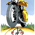1925 Fn Motorcycles Advertising Poster by Retro Graphics
