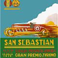 1926 San Sebastian Grand Prix Racing Poster by Retro Graphics
