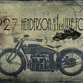1927 Henderson Vintage Motorcycle by Cinema Photography