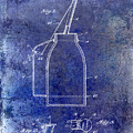 1927 Oil Can Patent Blue by Jon Neidert