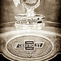 1928 Chevrolet 2 Door Coupe Hood Ornament Moto Meter -0789s by Jill Reger