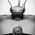 1928 Chrysler Model 72 Deluxe Roadster Hood Ornament - Emblem -0806bw by Jill Reger