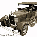 1929 Ford Phaeton Classic Antique Car On White Photograph 3500.0 by M K Miller