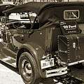 1929 Ford Phaeton Classic Car Back Side Trunk Antique In Sepia 3 by M K Miller