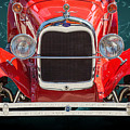 1929 Ford Phaeton Classic Car Front End Antique In Red Color 351 by M K Miller