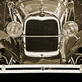 1929 Ford Phaeton Classic Car Front End Antique In Sepia 3512.01 by M K Miller