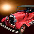 1929 Ford Phaeton Classic Car In Moonlight Painting 3499.02 by M K Miller