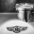 1930 Bentley Speed Six Emblem -0275bw by Jill Reger