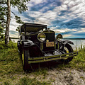 1930 Chevy On The Shore Of Higgins Lake by Joe Holley