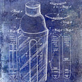 1930 Cocktail Shaker Patent Blue by Jon Neidert